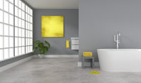Puristic modern bathroom with a space for text