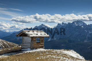 Refuge in high mountains
