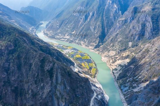 Nujiang river landscape