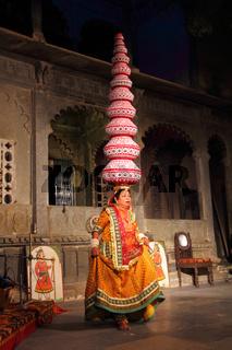 Bhavai performance - famous folk dance of Rajasthan