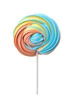 Front view of colorful meringue lollipop