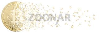 Bitcoin Krypto Währung online bezahlen digital Geld Kryptowährung Wirtschaft Finanzen Freisteller freigestellt Banner