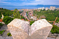 City of Rijeka panoramic view from Trsat Gradina fortress