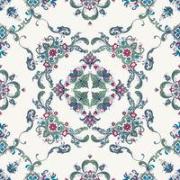 Rosemaling vector pattern 48