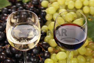 Rotwein und Weisswein