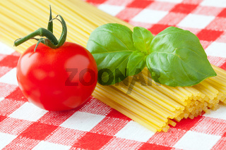 Tomato , basil and pasta