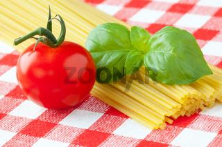tomato , basil and pasta