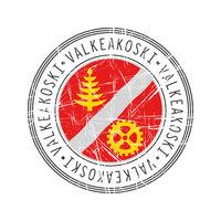 Valkeakoski city postal rubber stamp
