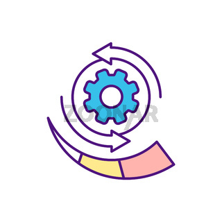 Boosting product development RGB color icon