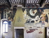 Foligno Umbria Italy. Frescoes at Trinci Palace (Palazzo Trinci)
