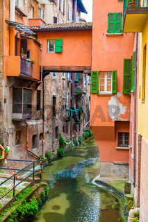 Hidden canal in Bologna