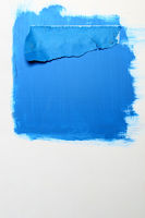 Blue paint and sheet of paper | Background