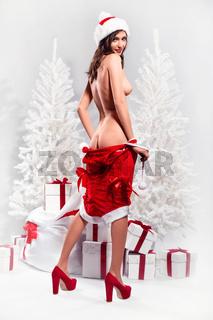 Beautiful naked woman undress