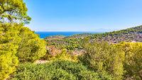 Coast of Aegina Island