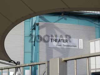 Theater am Tanzbrunnen - Inschrift am Veranstaltungsort