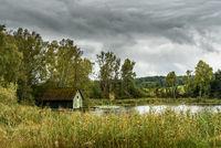 Hütte am See, Nussbaumer See, Nussbaumen, Kanton Thurgau, Schweiz