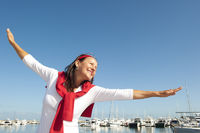 Happy woman active retirement