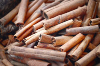 Cinnamon Sticks at a Market Stall, Dubai Souk