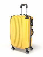 Yellow suitcase 3D