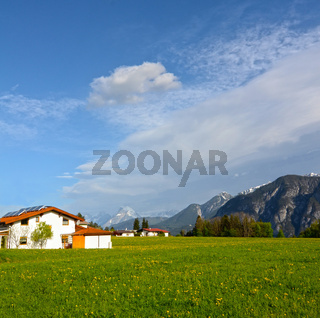 Alpine landscape in Austria: mountains