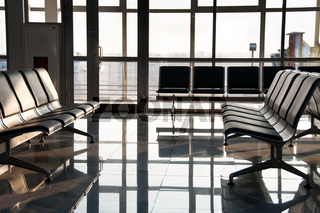 Airport sits and big window