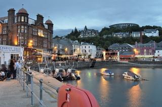 Schottland, Argyll, Oban Harbour, Oban Town Centre