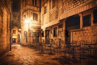 Street cafe in Kotor