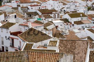 Olvera Ansicht. Andalusien