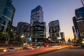 Streets of Gangnam in Seoul South Korea