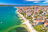 Adriatic town of Pirovac and Murter island aerial view