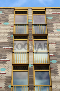 Backstein Fassade in Berlin. Deutschland