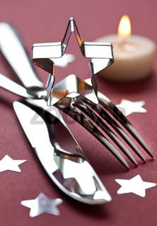 weihnachtliches Tischgedeck