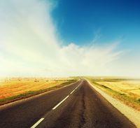 Road across the field