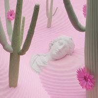 3D illustration, 3D rendering. Vaporwave concept. Bust of statue Aphrodite.