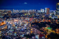 Tokyo night view as seen from Tokyo Tower