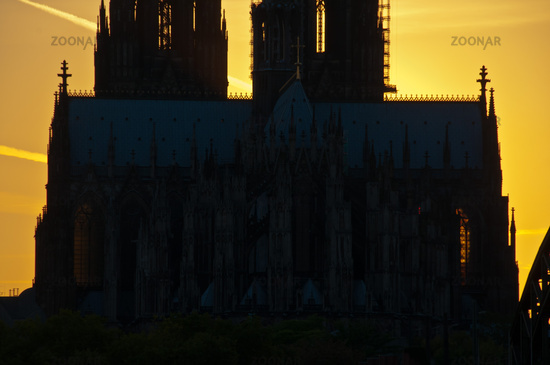 Abendstimmung am Kölner Dom, Köln, Nordrhein-Westfalen, Deutschland, Europa