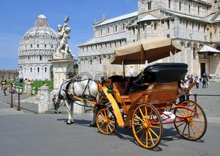 am Platz der Wunder in Pisa