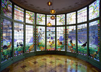 Barcelona. Catalonia. Spain.  The Casa Lleo Morera is a building designed by noted modernisme architect Lluis Domènech i Montaner,