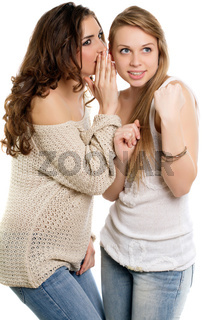 Two young gossipy women