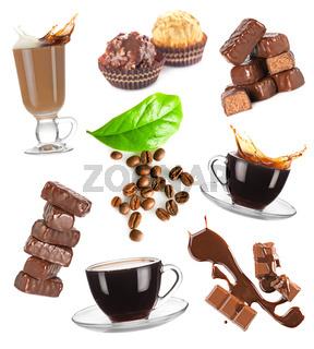 Coffee and chocolate set
