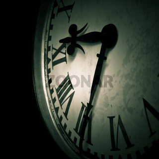 Abstract dark clock detail