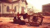 old American wild western style town
