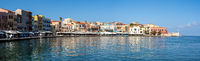 Chania Old Harbour on Crete, Greece