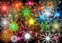 Abstract 3D rendering fractal cover photo design in size for background