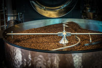 Image of coffee beans to be roasted