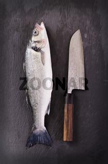 fish with santoku knife