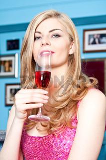 Flirt mit sexy Frau