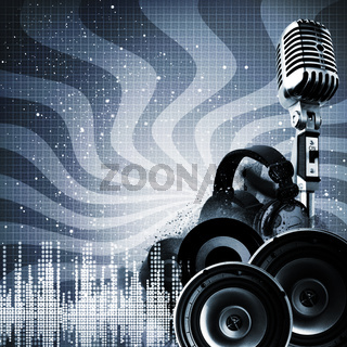 Abstract DJ backgrounds with copy-space for your design