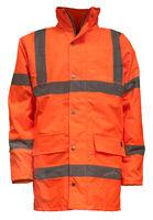 Isolated Orange Hi-Vis Jacket