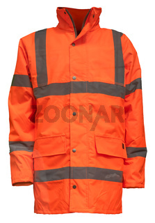 Isolated Orange Hi-Vis Jacket